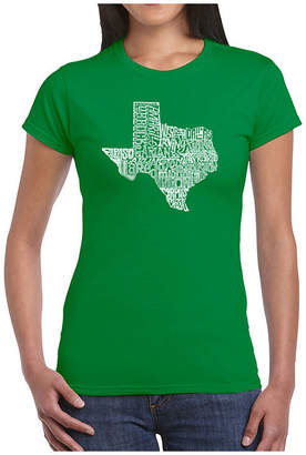 The Great LOS ANGELES POP ART Los Angeles Pop Art State Of Texas Graphic T-Shirt