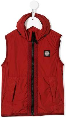 Stone Island Junior hooded logo vest