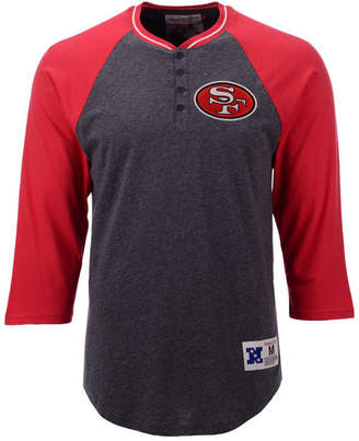 Mitchell & Ness Men's San Francisco 49ers Four Button Henley T-Shirt