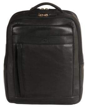 Mancini Colombian RFID-Secure Leather Backpack
