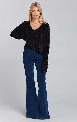 Show Me Your Mumu Farrah Trouser Flare ~ Stretch Corduroy Navy
