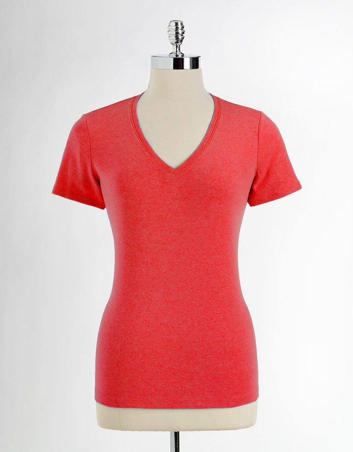 KATE HILL Cotton V-Neck Tee