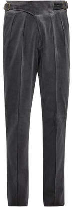 Rubinacci Manny Tapered Cotton-Corduroy Trousers