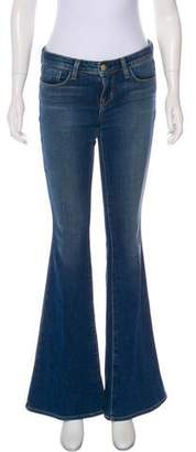L'Agence Low-Rise Flared Jeans