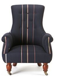 Astrid Chair, Bespoke Stripe