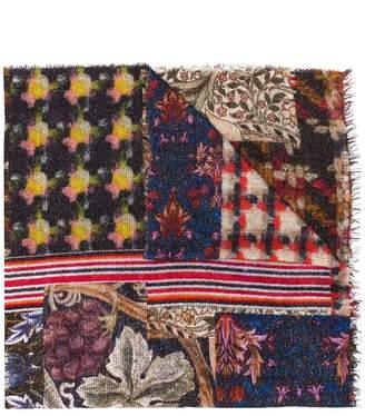 Faliero Sarti American mulit-patterned scarf