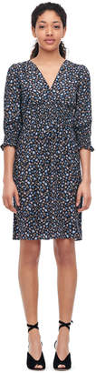 Rebecca Taylor Zelma Floral Silk V-Neck Dress