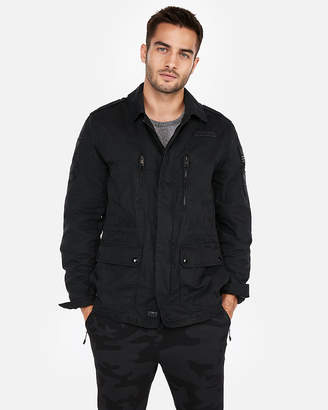 Express Cotton Patch Shirt Jacket