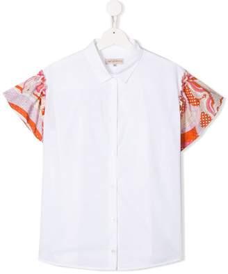 Emilio Pucci Junior TEEN contrast sleeve shirt