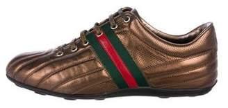 Gucci Metallic Web Sneakers
