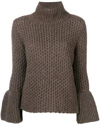 Eleventy bell sleeves knitted jumper