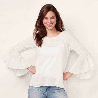 Lauren Conrad Women's Bell-Sleeve Top