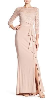 Marina Lace Upper Cascade Gown