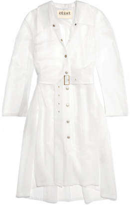 Awake Pvc Trench Coat - White
