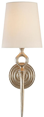 AERIN Bristol Single Sconce - Burnished Silver Leaf