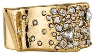Alexis Bittar Crystal Encrusted Ribbon Ring