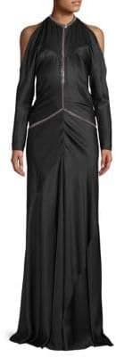 Alexander Wang Backless Silk Floor-Length Gown