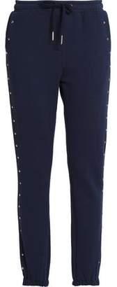 Zoe Karssen Studded French Cotton-Blend Terry Track Pants