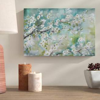 Bloomsbury Market 'Cherry Blossoms II' Print on Wrapped Canvas