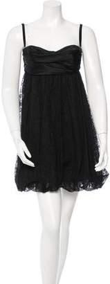 Dolce & Gabbana Satin & Lace Bustier Dress