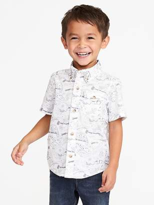 Old Navy Built-In Flex Reptile-Print Shirt for Toddler Boys
