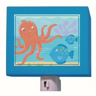 Oopsy Daisy Fine Art For Kids Octopus and Fish Night Light