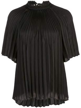Vince short sleeve plisse blouse