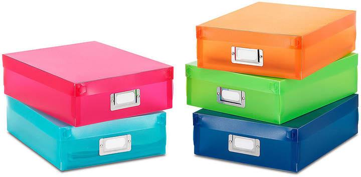 5-pc. Multicolor Plastic Document Boxes