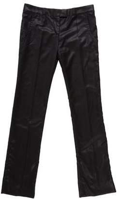 Stella McCartney Wool Sateen Mid Rise Pants
