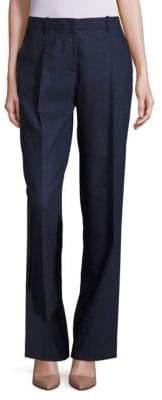 Lafayette 148 New York Rivington Finite Italian Flannel Wide-Leg Pants