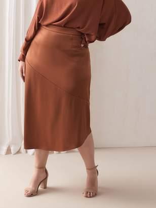 Asymmetric Satin Skirt - Addition Elle
