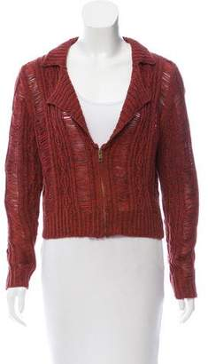 Opening Ceremony Rodarte x Open Knit Zip-Up Cardigan