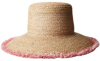 Hat Attack Raffia Braid Lampshade w/ Fringe Traditional Hats