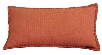 "AM Home Emberglow Diamond Texture Lumbar Pillow With Whipstitch, Feather Insert, 14"" x 26"""
