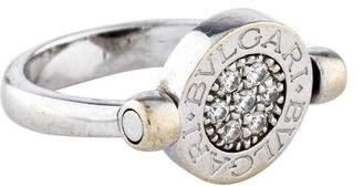 Bvlgari 18K Onyx & Diamond Flip Ring