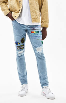 PacSun Patchwork Destroy Medium Skinny Jeans