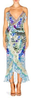 Camilla Chinese Whispers Silk High-Low Dress $600 thestylecure.com