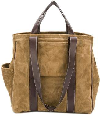 Holland & Holland large suede tote bag