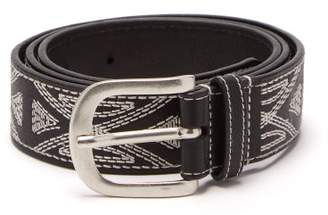Isabel Marant - Tetyh Embroidered Leather Belt - Mens - Black