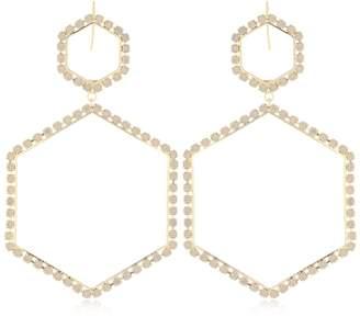 Isabel Marant Hexagon Crystal Earrings