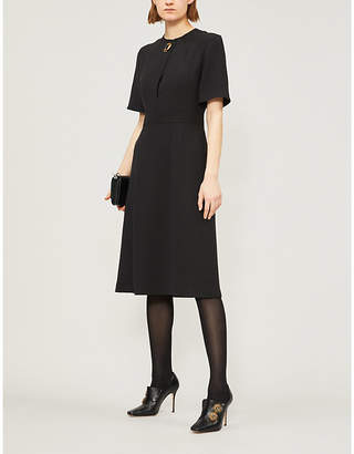 Burberry Kaly silk and wool-blend dress