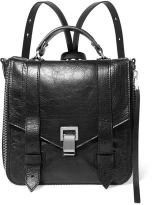 Proenza Schouler Ps1+ Textured-leather Backpack - Black