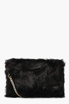 boohoo Foldover Faux Fur Cross Body Bag e30b829055