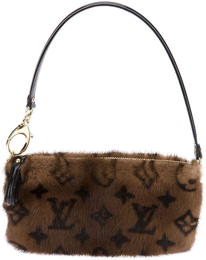 Louis Vuitton Vintage mink fur shoulder bag