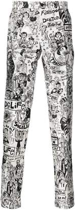 Dolce & Gabbana Cartoon print tailored trousers