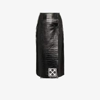 Off-White Off White High-Waisted Leather Pencil Skirt