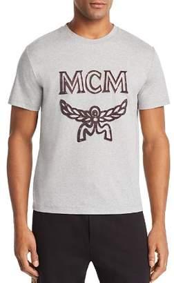MCM Metallic-Trimmed Logo Appliqué Tee