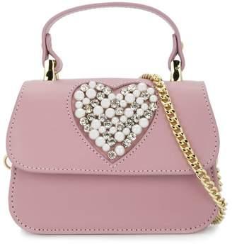 MonnaLisa heart embellished shoulder bag