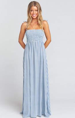 MUMU Maggie Maxi Dress ~ She Sails Stripe Flux