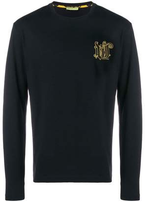 Versace embroidered logo patch top